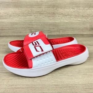 Under Armour SC Steph Curry IV 4 Slide Sandal Red